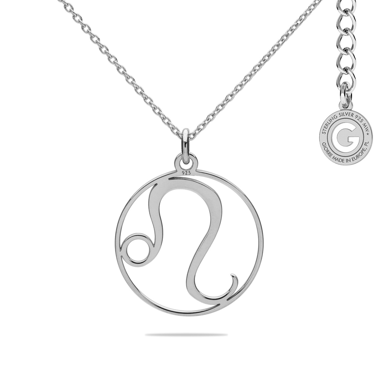 LION ZODIAC SIGN NECKLACE SILVER 925