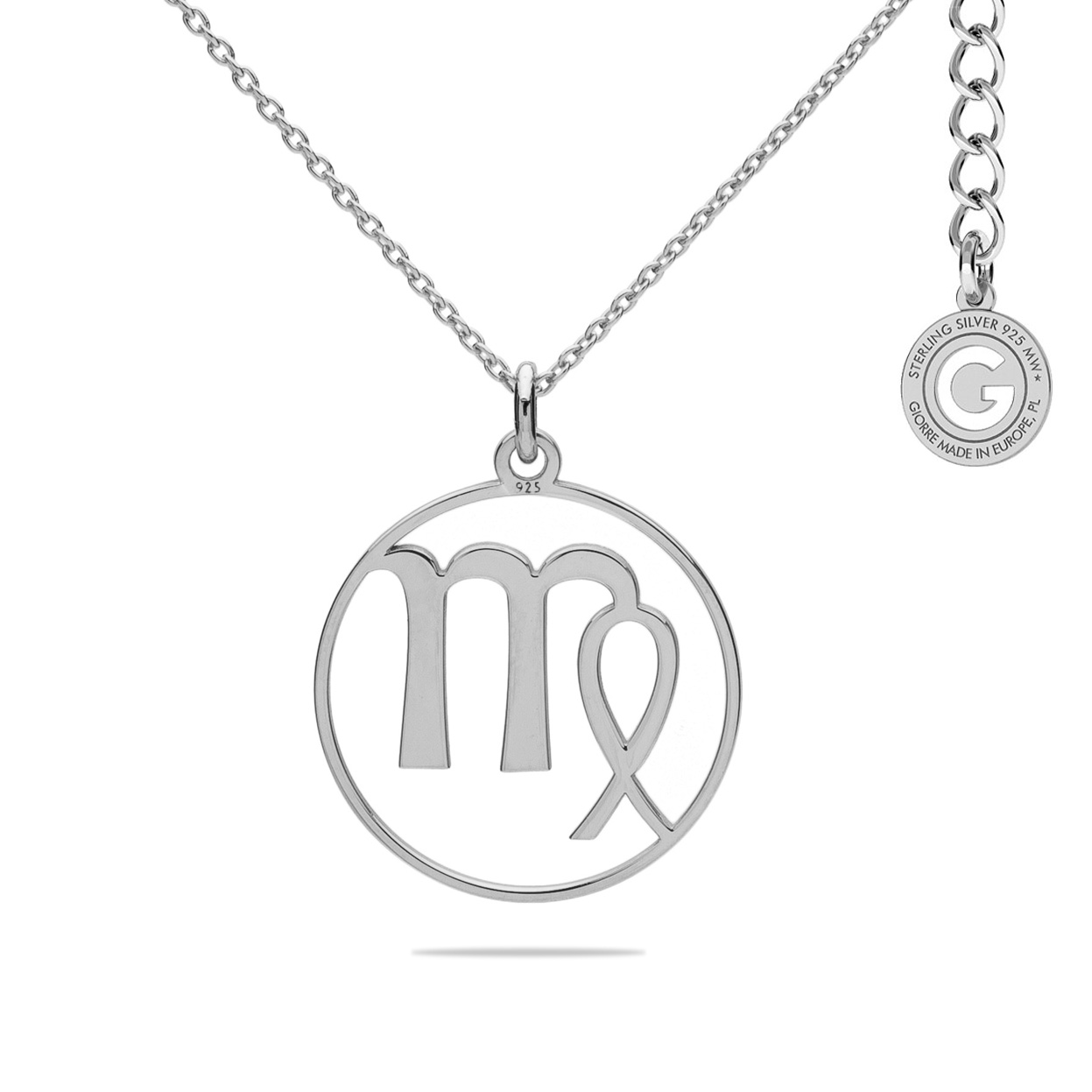 VIRGIN ZODIAC SIGN NECKLACE SILVER 925