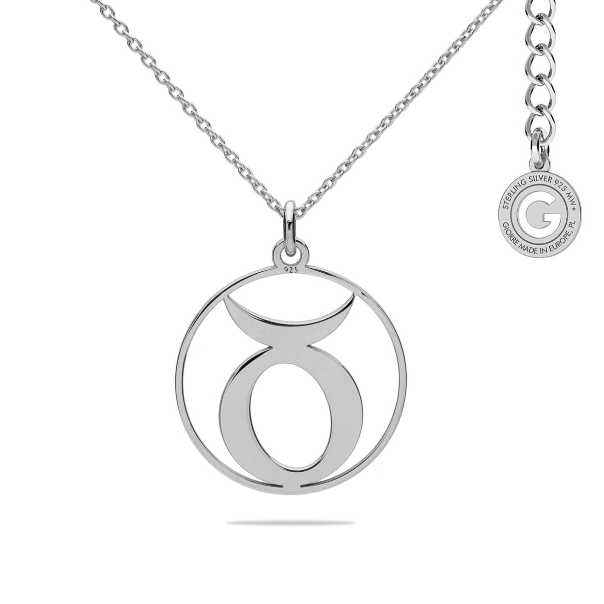 TAURUS ZODIAC SIGN NECKLACE SILVER 925
