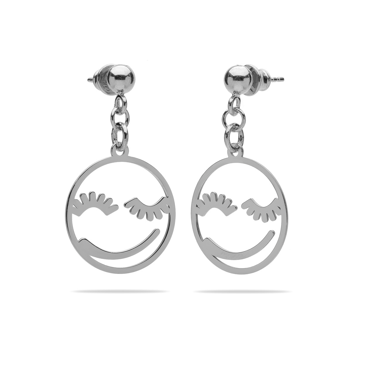 SILVER FACE EARRINGS 925