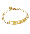 TIME IS NOW BRACELET, STERLING SILVER 925