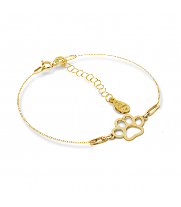 GOLD BRACELET DOG PAW 14K