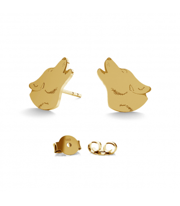 GOLD EARRINGS WOLF 14K