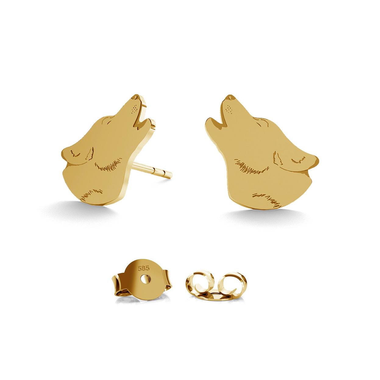 GOLD EARRINGS SEROTONINE 14K