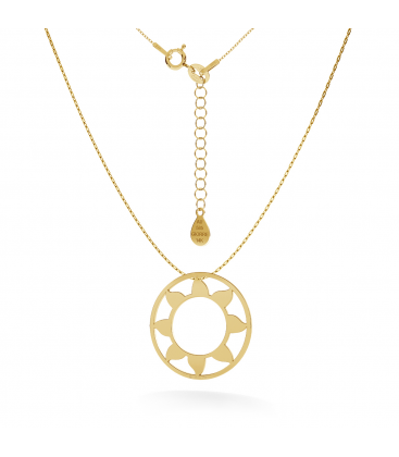 GOLD SUN NECKLACE 14K