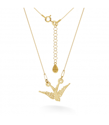 GOLD ANCHOR WITH ENGARVING NECKLACE 14K