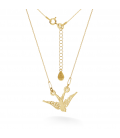 GOLD SWALLOW NECKLACE 14K