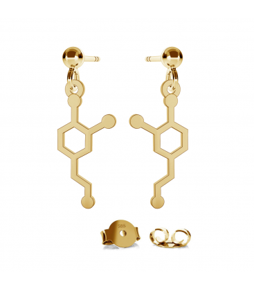 Gold earrings dopamine 14k