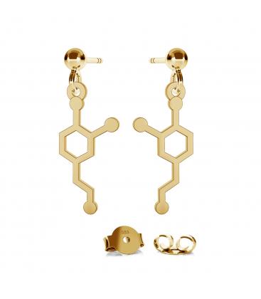 Złote kolczyki dopamina au 585