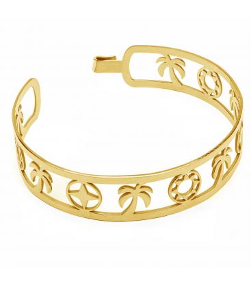 Summer vibes bangle bracelet, sterling silver 925