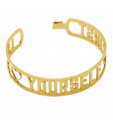 Love yourself first bangle bracelet, sterling silver 925