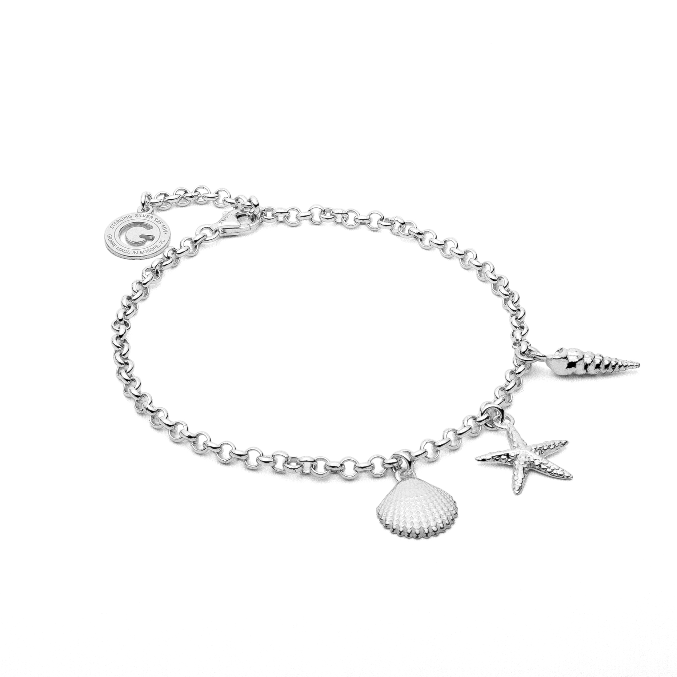 NECKLACE SEASHELL STARFISH STERLING SILVER