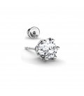 MEN'S EARRING 6 MM SWAROVSKI ZIRCONIA 925