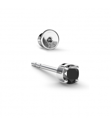 Boucle d'oreille pour homme 3mm diamants synthétiques 0,11k