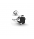 MEN'S EARRING 6MM BLACK DIAMOND 925