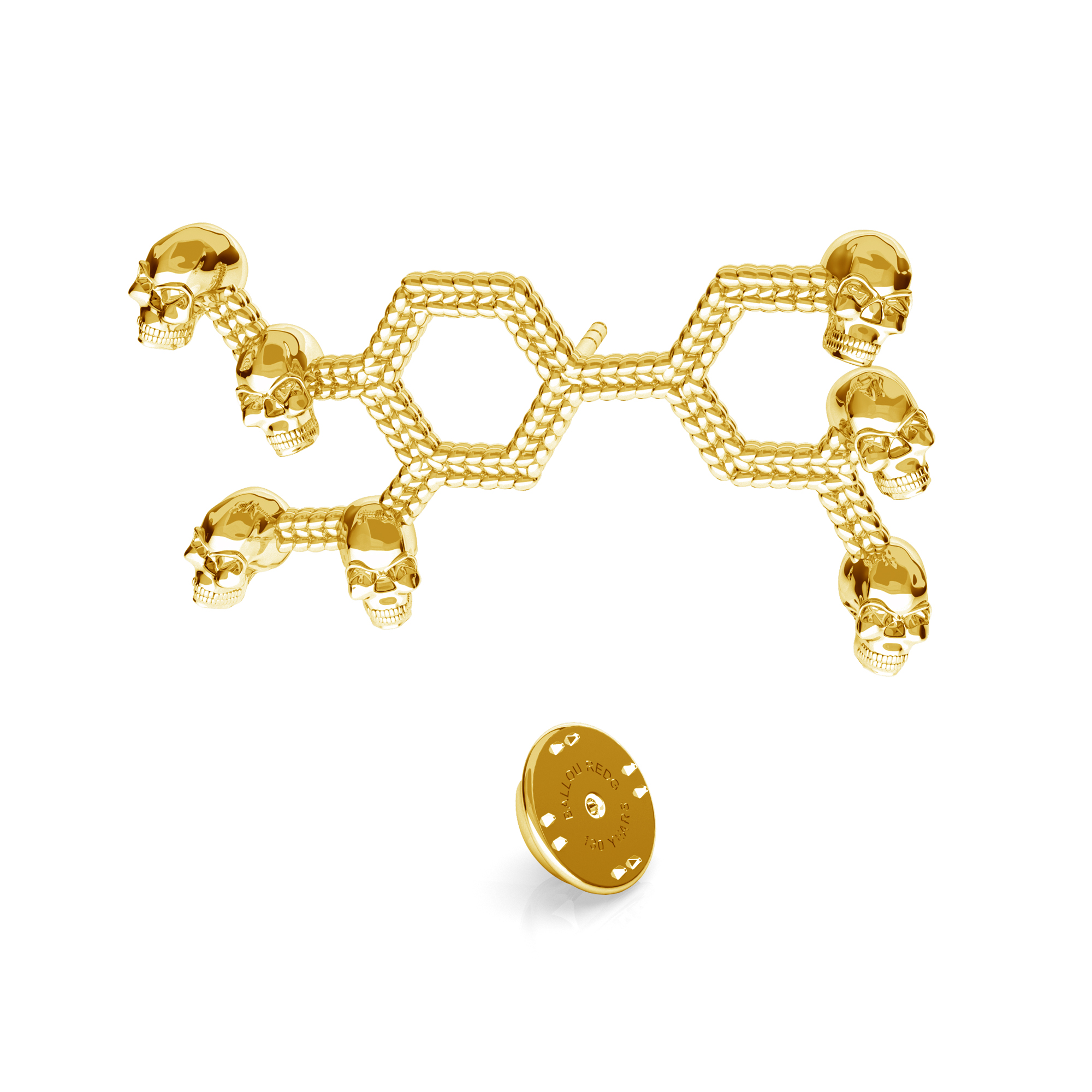 TESTOSTERONE CHEMICAL FOMULE LAPEL PIN 925