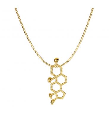 Formula quimica de testosterona collar plata 925