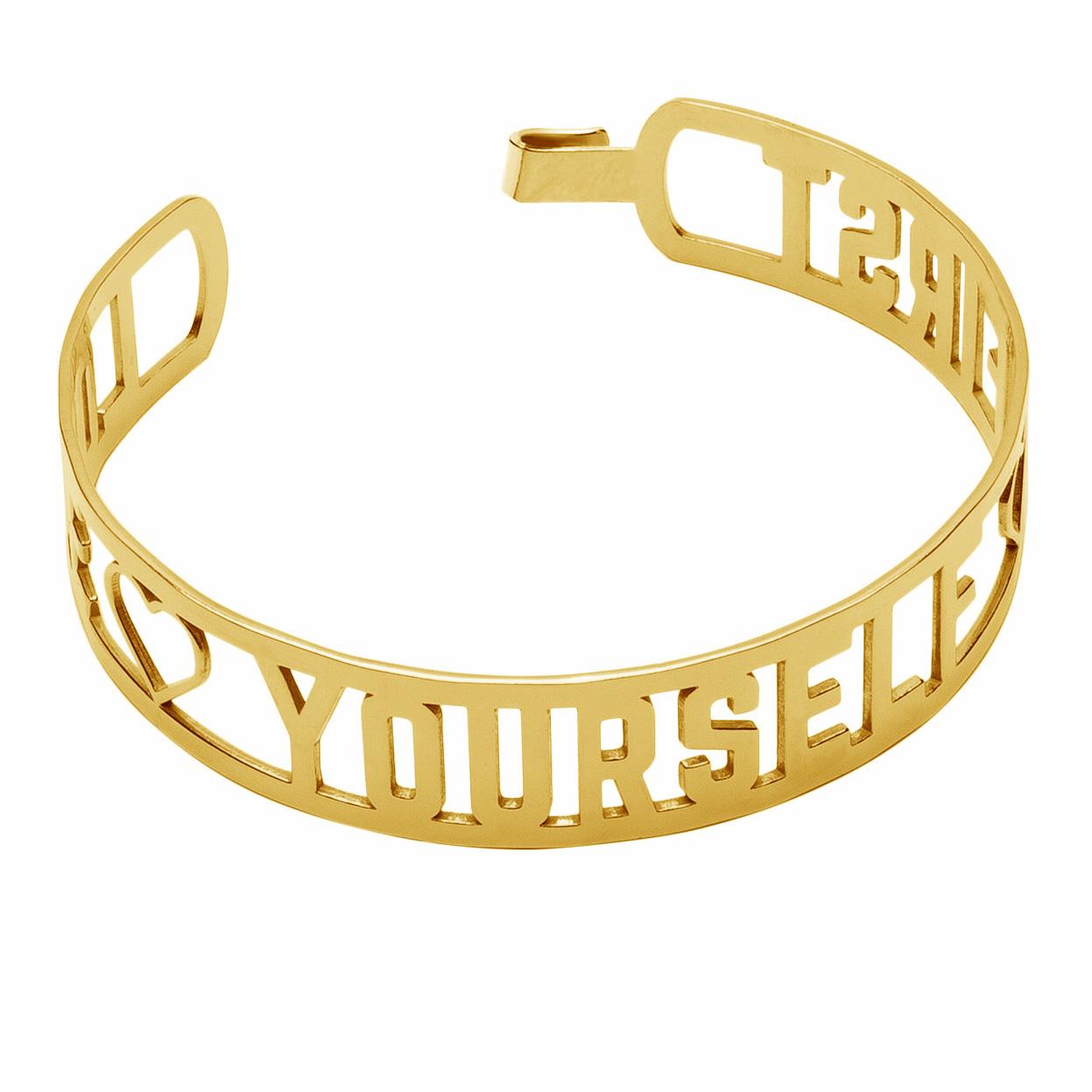 LOVE YOURSELF FIRST BANGLE BRACELET GOLD 585 14K