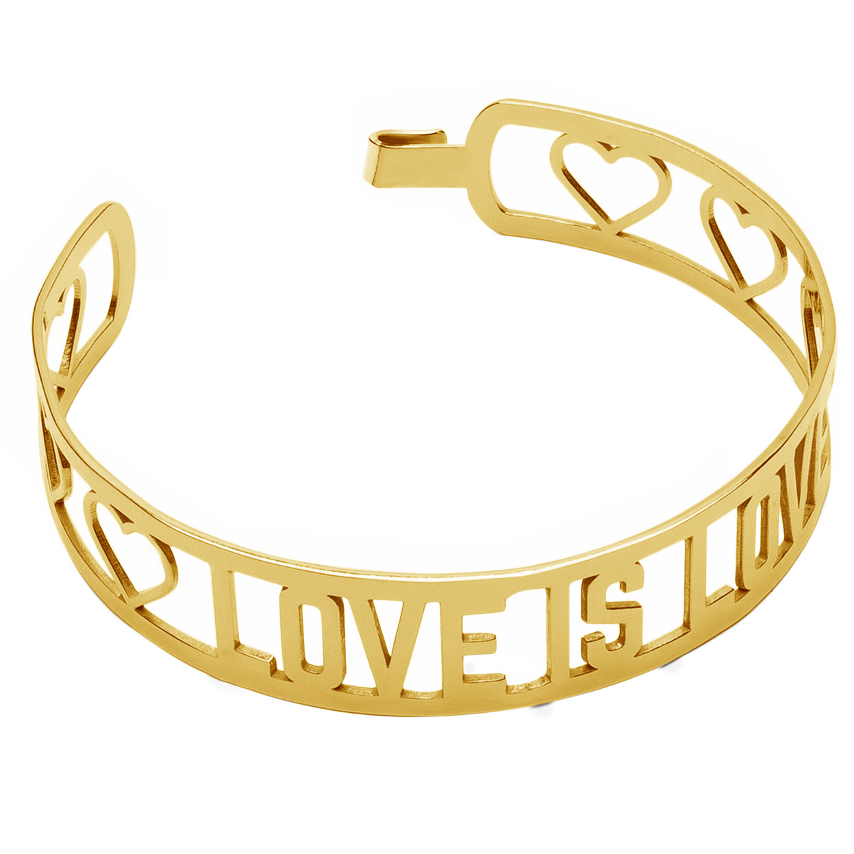 LOVE IS LOVE ARMBAND GOLD 14K