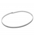 UNISEX BANGLE BRACELET, BRUSHED STERLING SILVER 925