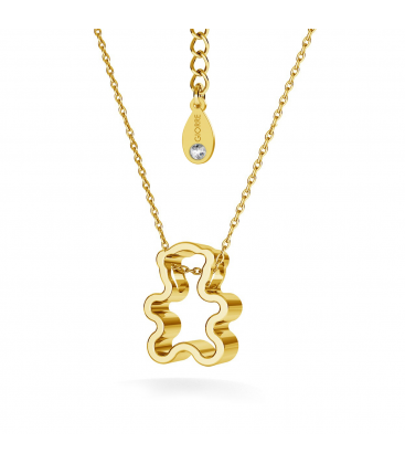Teddy bear necklace gold plated - basic