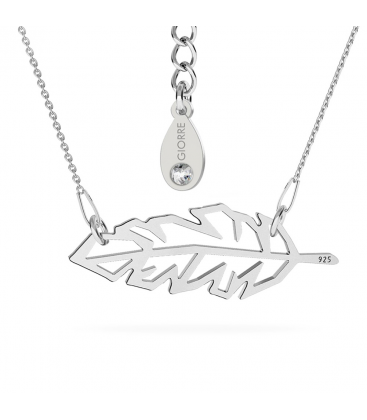 FEATHER ORIGAMI NECKLACE SILVER 925