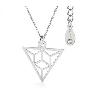 Dreieck origami halskette silber - basic