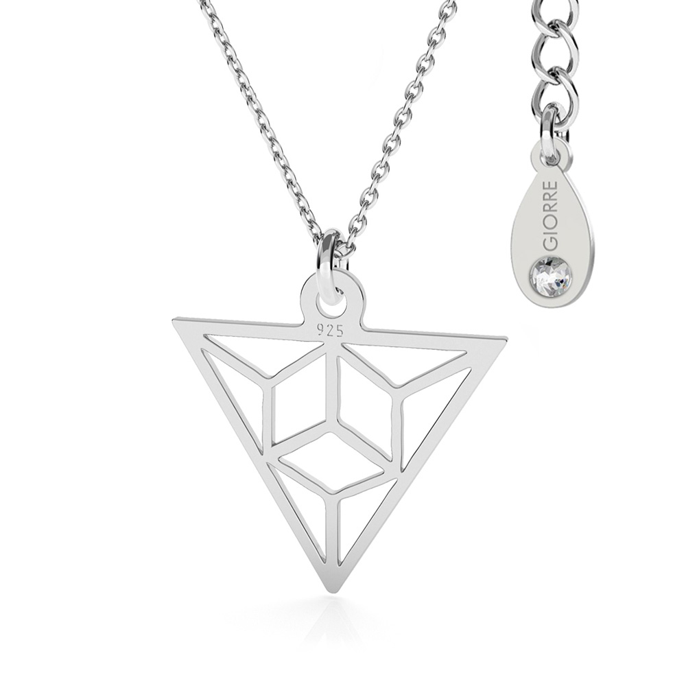 TRIANGLE ORIGAMI COLLIER ARGENT 925
