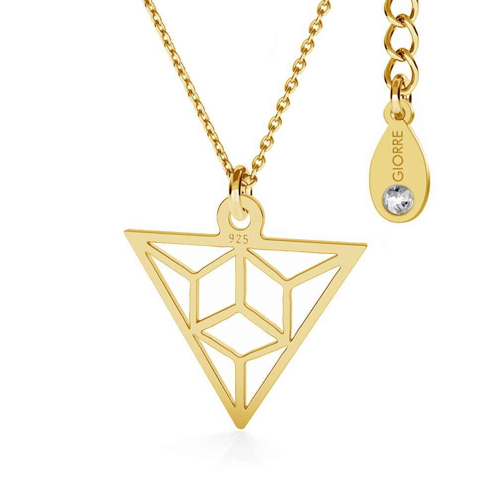 TRIANGLE ORIGAMI COLLIER ARGENT 925 - BASIC