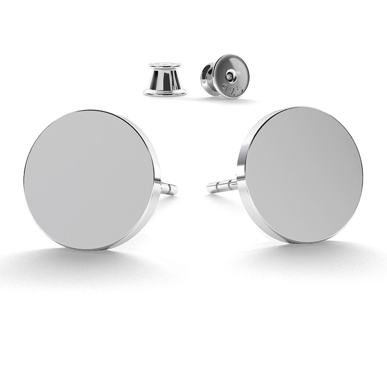 Ohrring Runde Abzeichen 11 mm