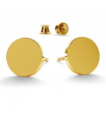 Okrągłe kolczyki 11 mm srebro złocone - basic