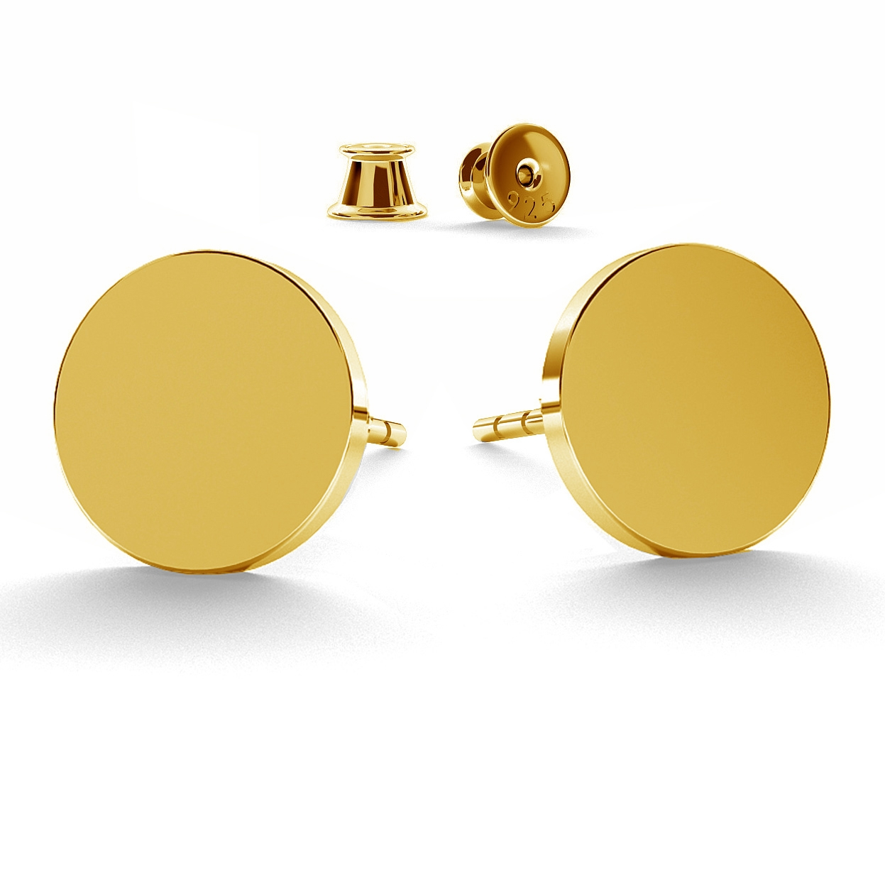 ROUND FLAT 11 MM EARRINGS - BASIC