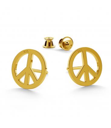Friedenssymbol ohrringe - basic