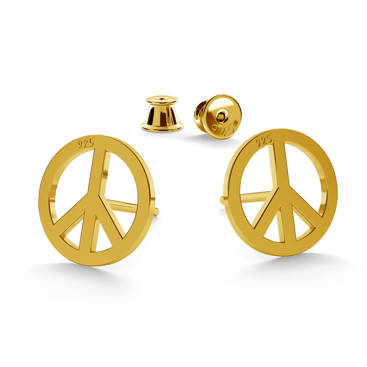 PEACE SYMBOL EARRINGS - BASIC