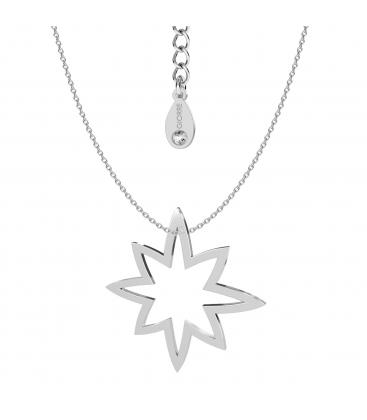 Naszyjnik gwiazda srebro rodowane - basic
