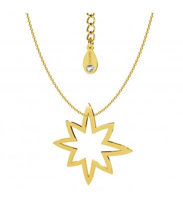 Naszyjnik gwiazda srebro złocone - basic