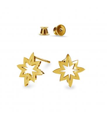 Kolczyki gwiazdki srebro złocone - basic