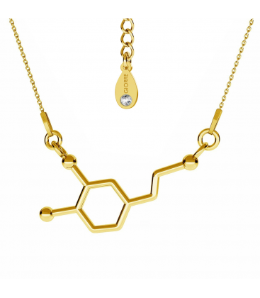 Naszyjnik dopamina srebro złocone - basic