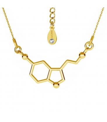 Naszyjnik serotonina srebro złocone - basic