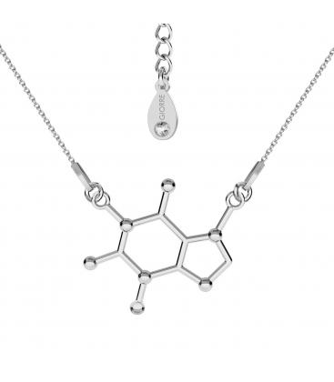 Collar cafeina fórmula química plata 925 - basic