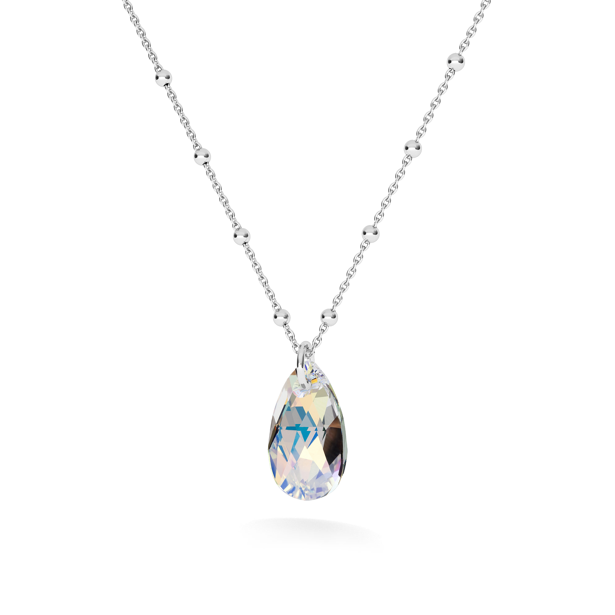 GOLD PLATED NECKLACE WITH SWAROVSKI CRYSTALS