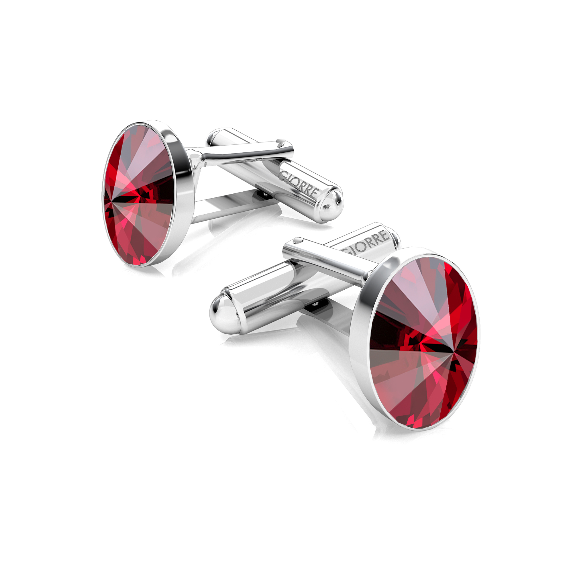 SILVER CUFFLINKS WITH RECTANGLE SWAROVSKI CRYSTALS 925
