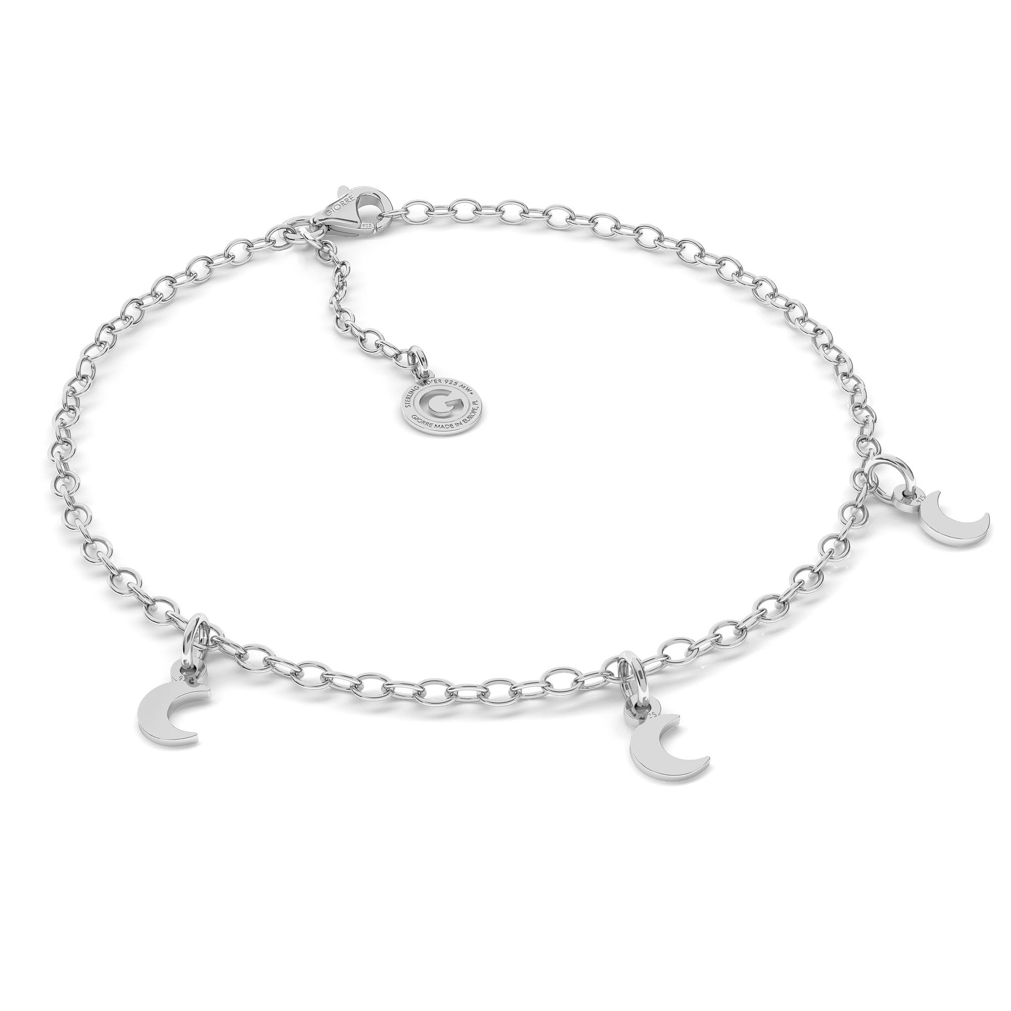 Peace symbol bracelet sterling silver