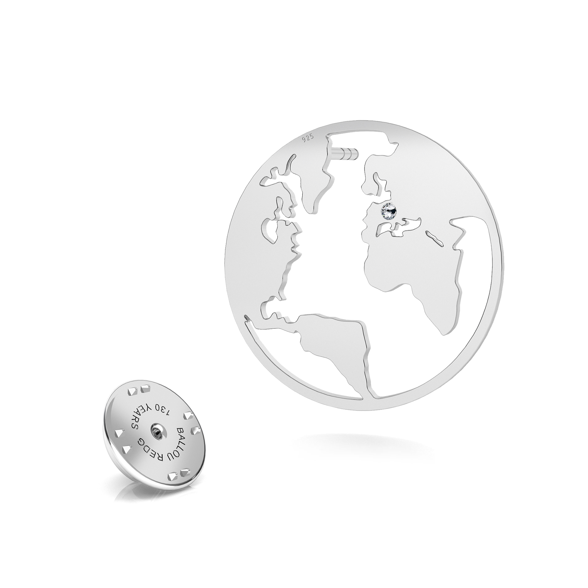 Helado pin de solapa, plata 925