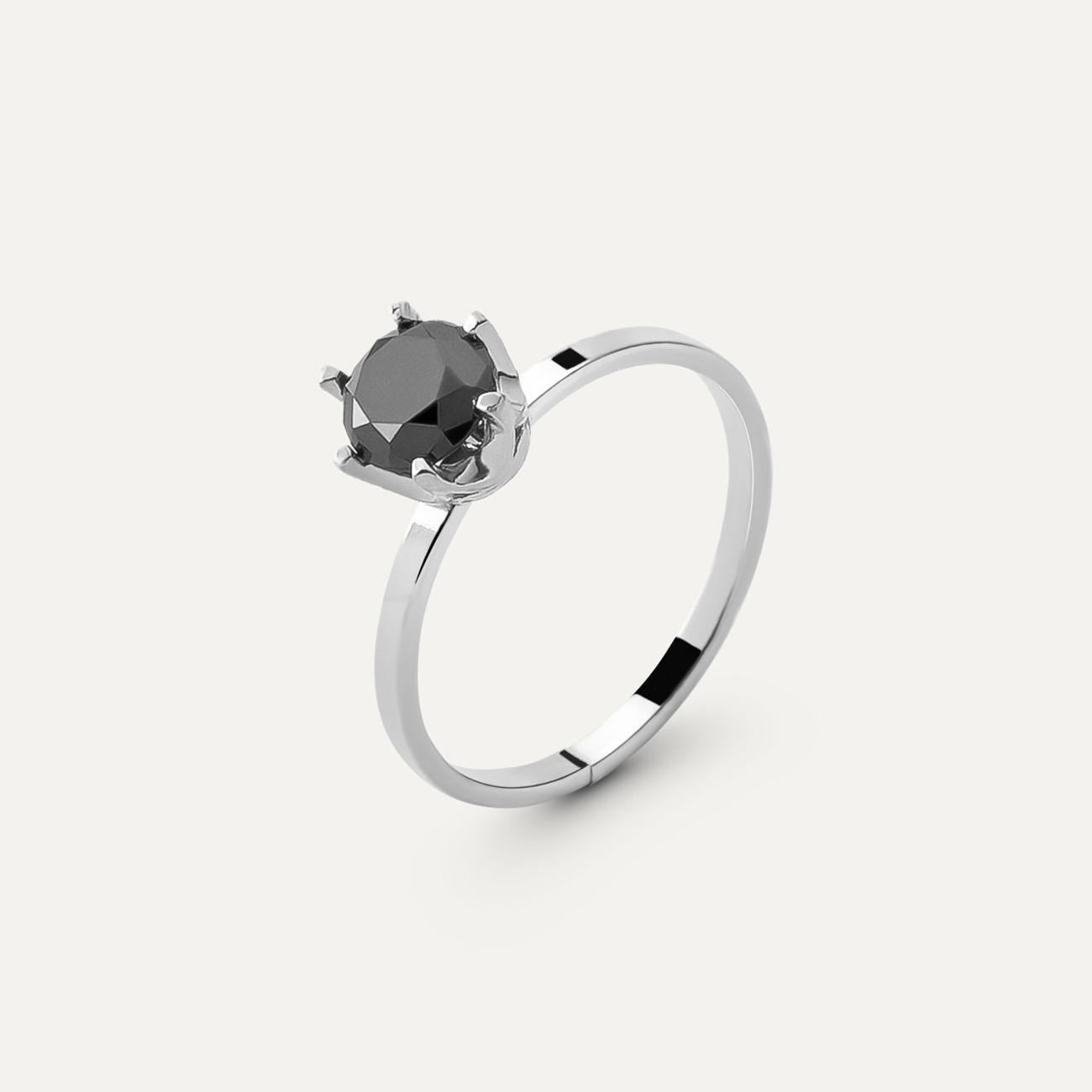 Srebrny pierścionek z diamentem 6mm My RING™ 925