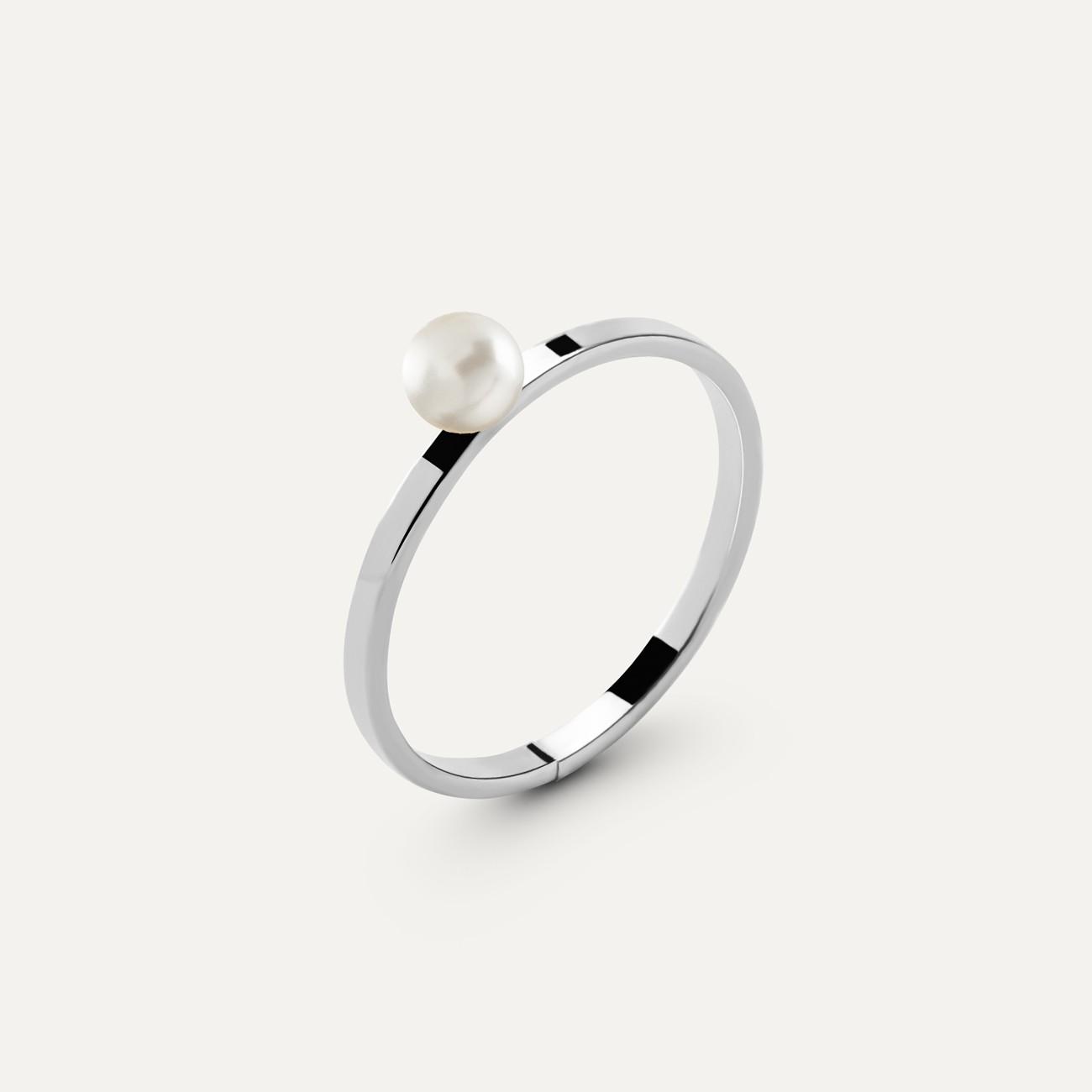 Srebrny pierścionek z perełką 4mm My RING™ 925