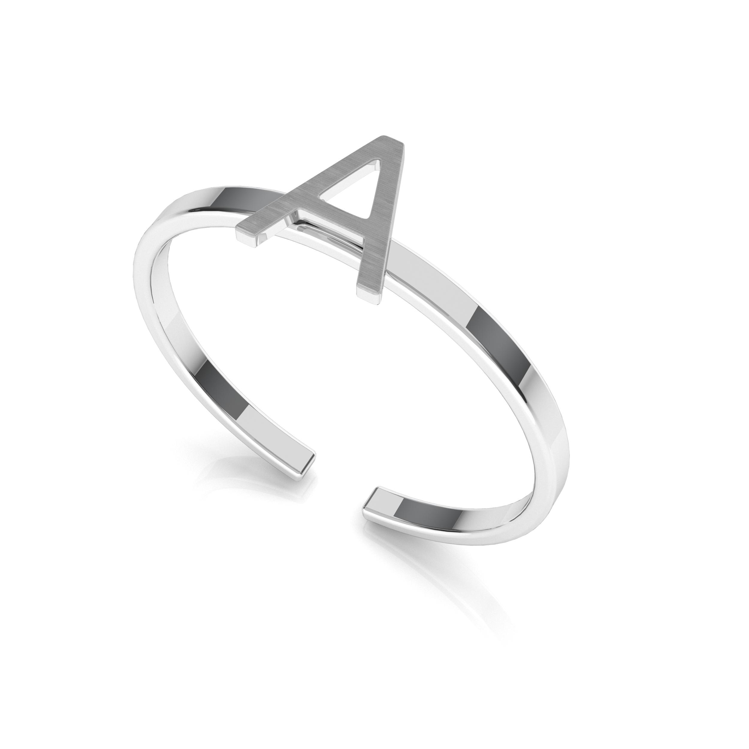 Srebrny pierścionek z literką My RING™ 925