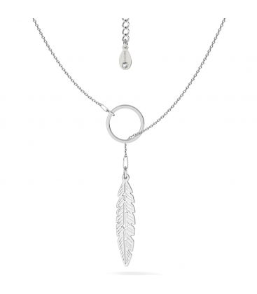 Leaf necklace, sterling silver 925 - basic