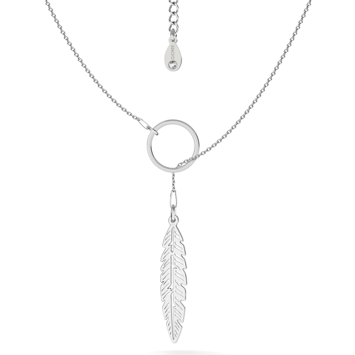 LEAF NECKLACE, STERLING SILVER 925