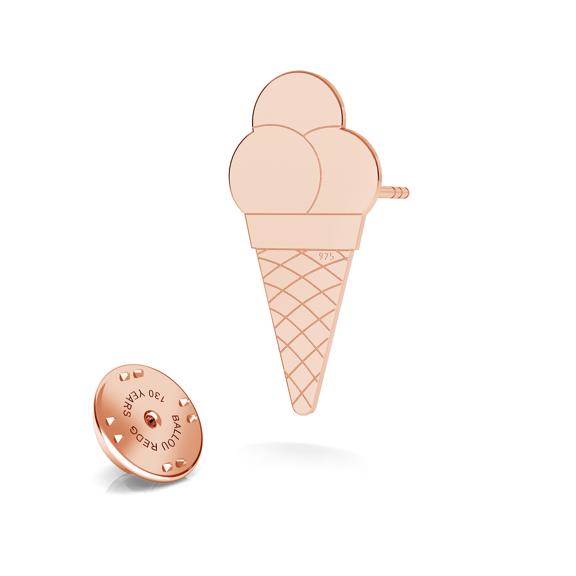 Ice cream lapel pin 925